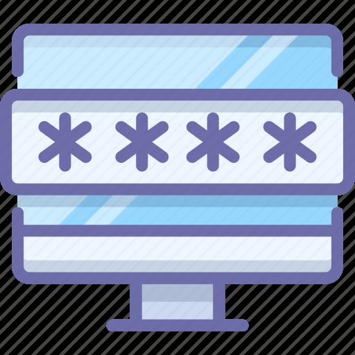 computer, password, protection icon
