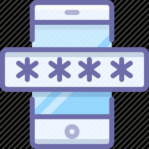 mobile, password, security icon