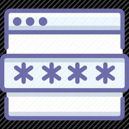 password, protection, web icon