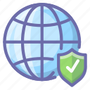 global, internet, security icon