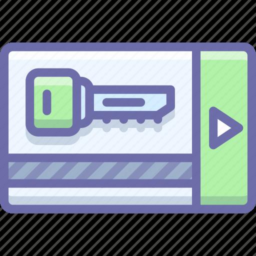 card, key, security icon