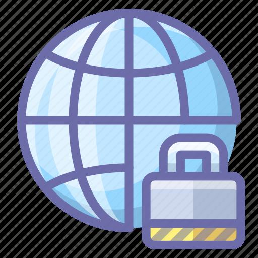 internet, lock, network icon