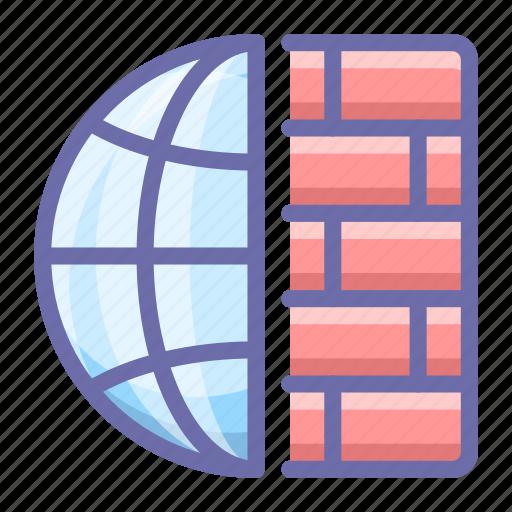 firewall, internet, web icon