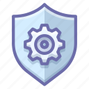 control, security, shield icon