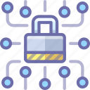 data, lock, security icon