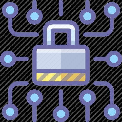 data, lock, security icon