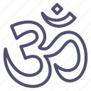aum, hinduism, om, religion icon
