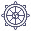 buddha, dharma, religion, wheel icon