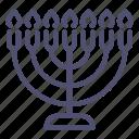 candle, hebrew, menorah icon