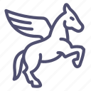 horse, wing, pegasus icon