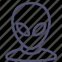 alien, extraterrestrial, space icon