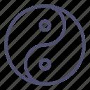 philosophy, yang, yin icon