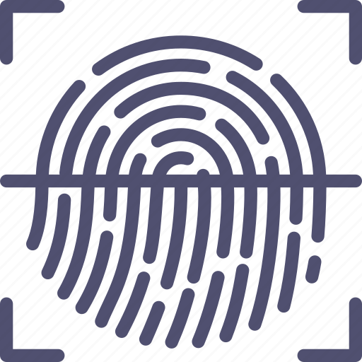 biometric, finger, fingerprint, id, password, protection, scan, security, touch icon