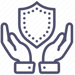 hands, insurance, insure, keep, protection, safe, secure, security, shield icon