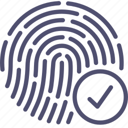 biometric, check, finger, fingerprint, id, ok, passed, password, scan, touch icon