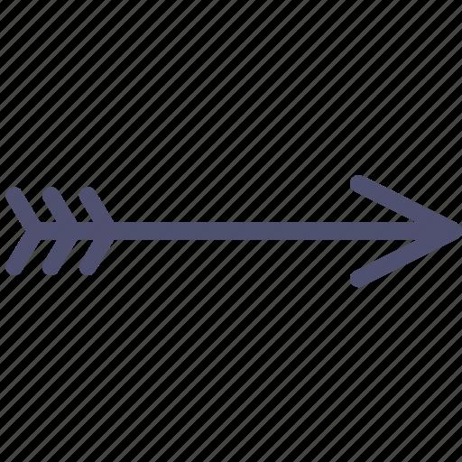 arrow, bow, retro, sign icon