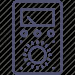 amper, indicator, tester, tool, volt, voltmeter, watt icon