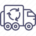 garbage, recycle, transport, trash, truck, vehicle icon