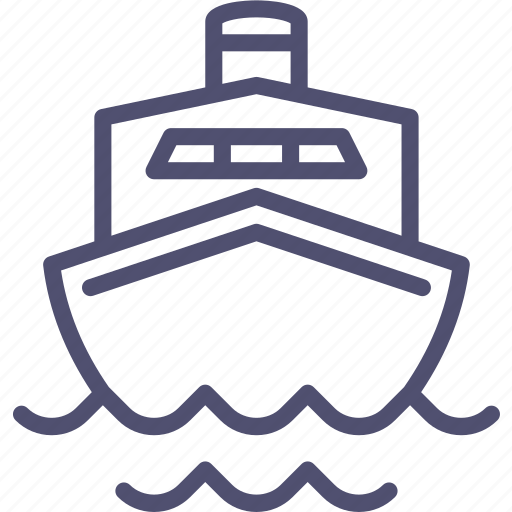 boat, cruise, liner, marine, ocean, sea, ship, transport, travel icon