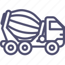 bulk, cement, construction, transport, truck, unit, vehicle icon