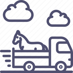 animal, delivery, horse, logistics, shipping, transport, truck, vehicle icon