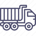 construction, transport, truck, unit icon