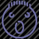 emoji, face, shock, surprised