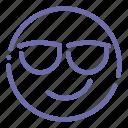 cool, emoji, face, smile