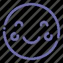 blush, emoji, face, smile icon