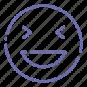 emoji, face, grinning, xd icon