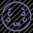 emoji, face, flushed, surprised