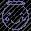 emoji, angel, face, smile icon