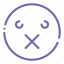 emoji, face, patch, sealed icon