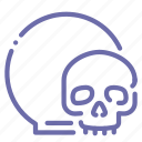 ball, crystal, magic, skull icon