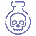 halloween, poison, potion, skull