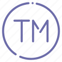 trademark, tm, logo, unregistered icon