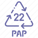 pap, paper, recyclable icon