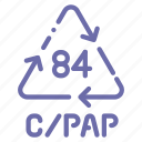 composite, cpap, materials, recyclable icon