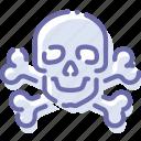 bones, danger, death, skull icon