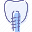 dental, implant, medicine, tooth icon