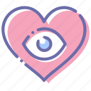 loving, love, eyes, heart icon
