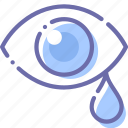 drops, eye, sadness, tears icon