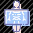 fluorography, medicine, ray, roentgen, x icon