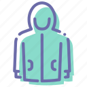 clothes, hoodie, hoody, zipper icon