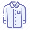 apparel, clothes, jacket, shirt icon