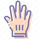 accessories, glove, gloves, hand icon