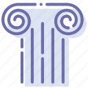 culture, ancient, column, greek icon