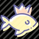 wonder, fish, wish, gold icon