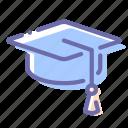 academic, cap, square, student icon