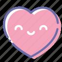 heart, kawaii, love, smile icon